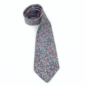 <Vintage> Tie Silk Floral Necktie Cherry Blossom